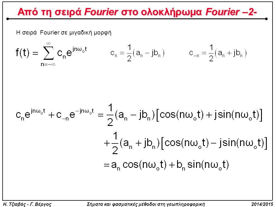 Από τη σειρά Fourier στο ολοκλήρωμα Fourier –2-