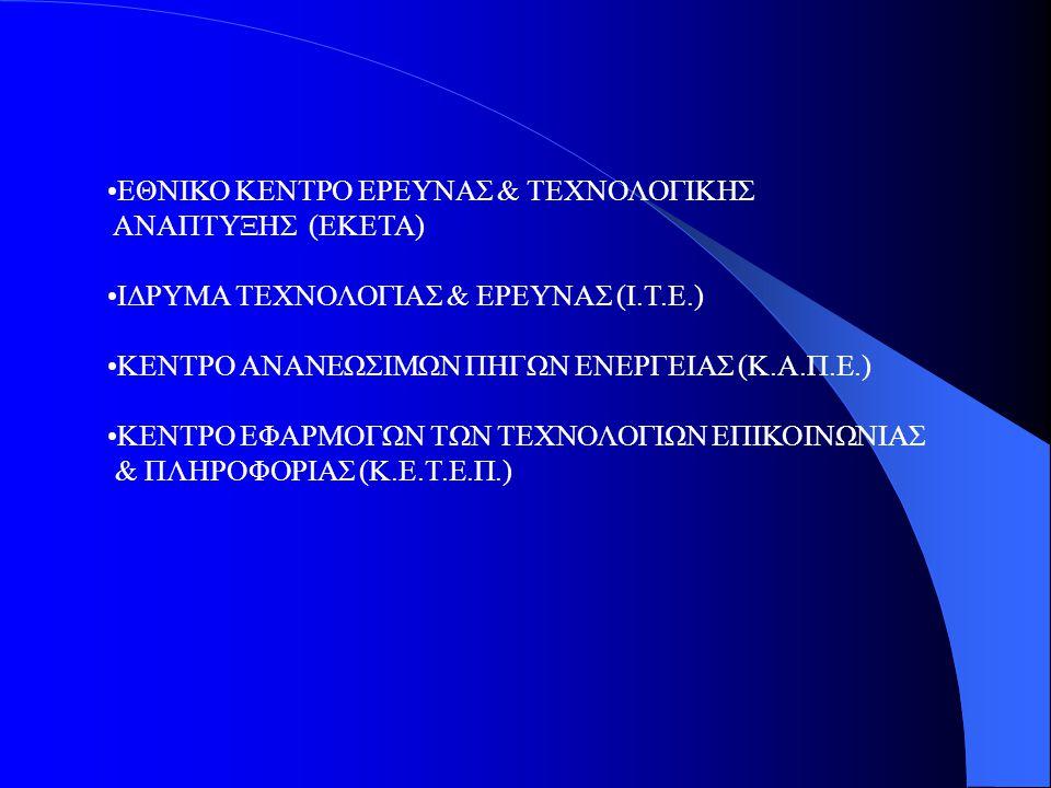 ΕΘΝΙΚΟ ΚΕΝΤΡΟ ΕΡΕΥΝΑΣ & ΤΕΧΝΟΛΟΓΙΚΗΣ