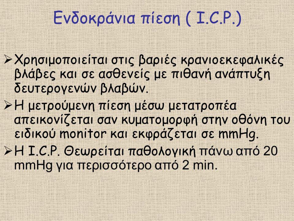 Ενδοκράνια πίεση ( I.C.P.)