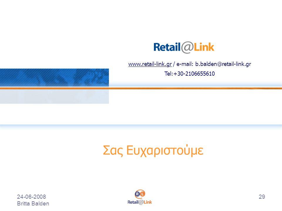 www.retail-link.gr / e-mail: b.balden@retail-link.gr