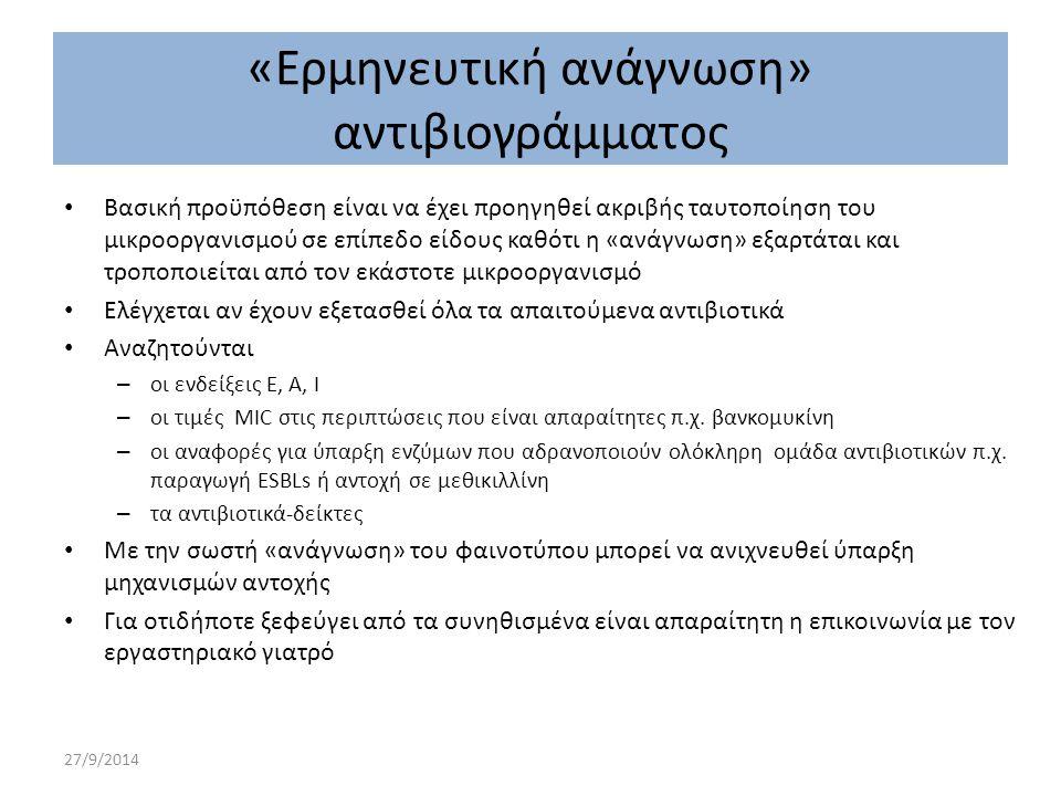 «Ερμηνευτική ανάγνωση» αντιβιογράμματος