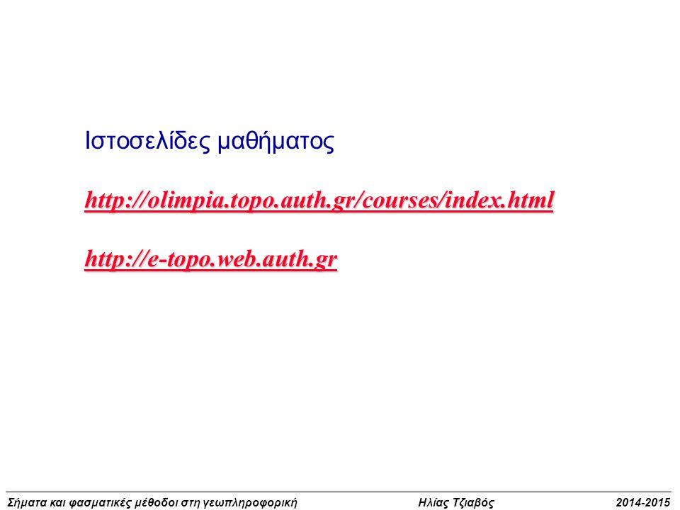 Ιστοσελίδες μαθήματος