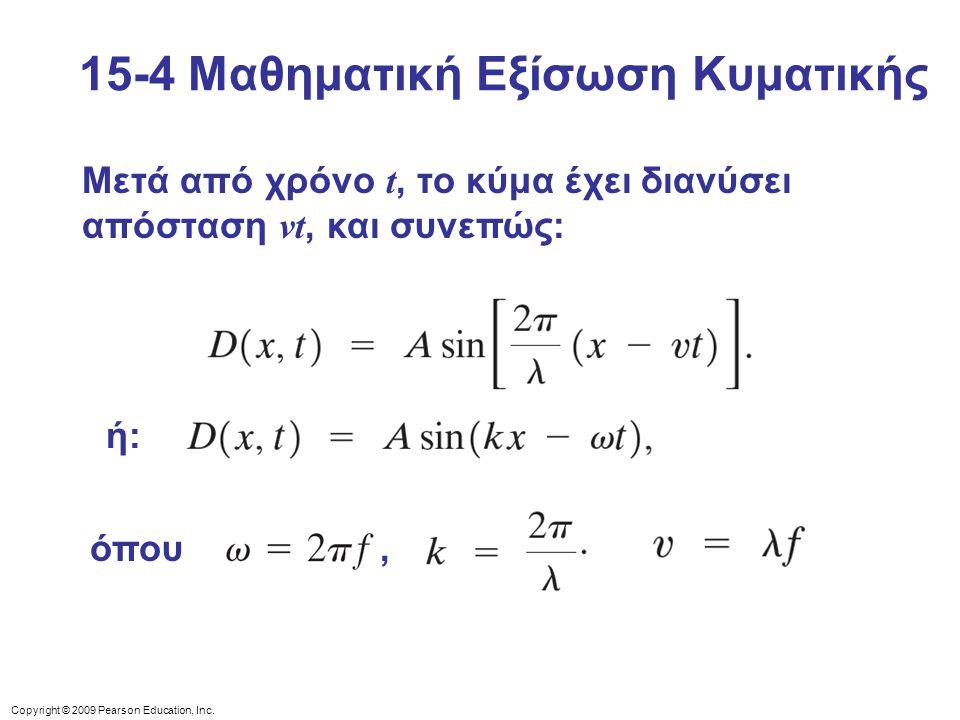 15-4 Μαθηματική Εξίσωση Κυματικής