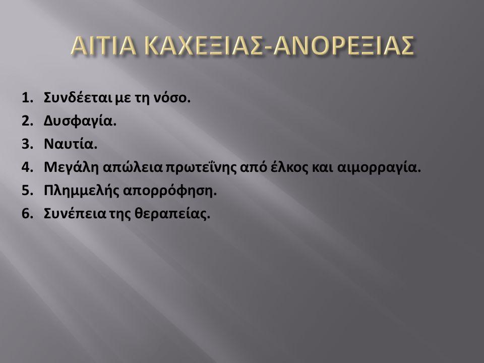 ΑΙΤΙΑ ΚΑΧΕΞΙΑΣ-ΑΝΟΡΕΞΙΑΣ