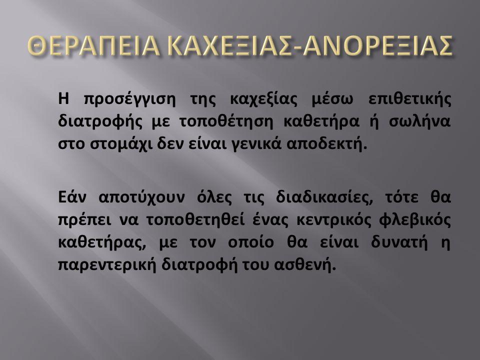 ΘΕΡΑΠΕΙΑ ΚΑΧΕΞΙΑΣ-ΑΝΟΡΕΞΙΑΣ