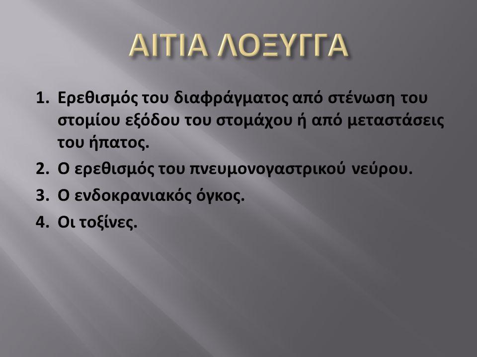 ΑΙΤΙΑ ΛΟΞΥΓΓΑ