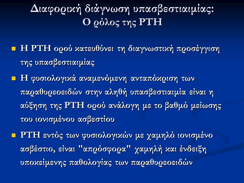 Διαφορική διάγνωση υπασβεστιαιμίας: Ο ρόλος της PTH