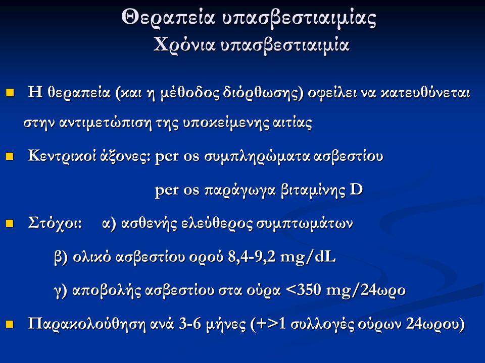 Θεραπεία υπασβεστιαιμίας Χρόνια υπασβεστιαιμία