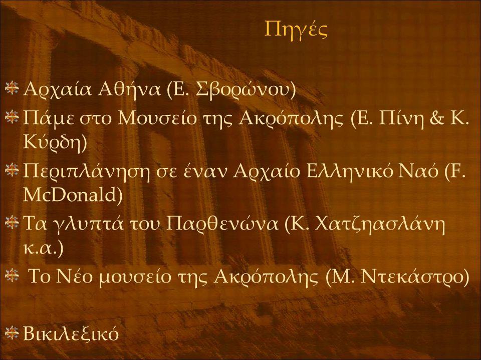 Πηγές Αρχαία Αθήνα (Ε. Σβορώνου)