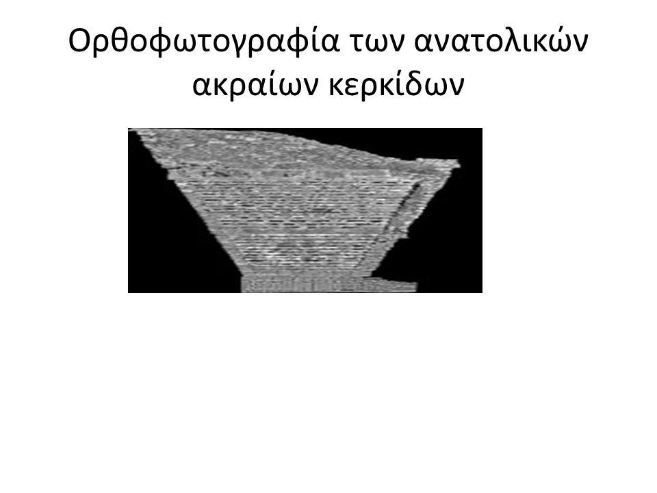 Ορθοφωτογραφία των ανατολικών ακραίων κερκίδων