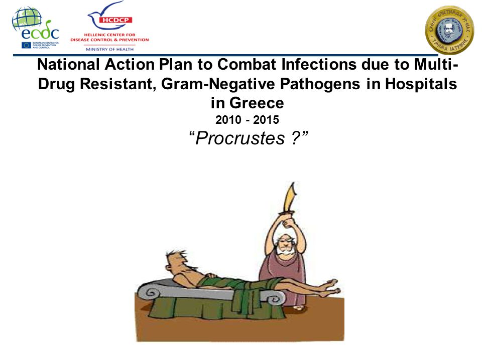 National Action Plan to Combat Infections due to Multi-Drug Resistant, Gram-Negative Pathogens in Hospitals in Greece 2010 - 2015 Procrustes