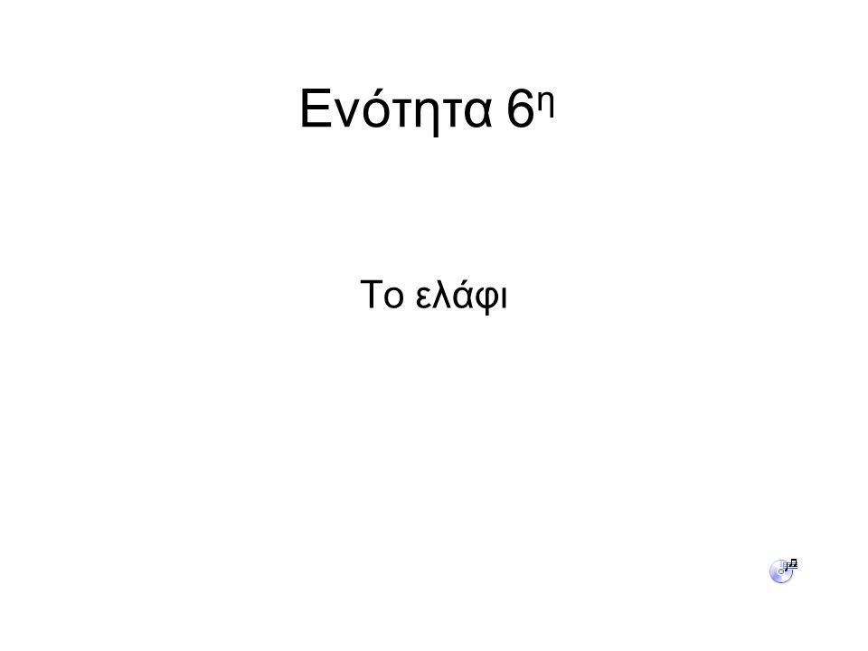 Ενότητα 6η Το ελάφι