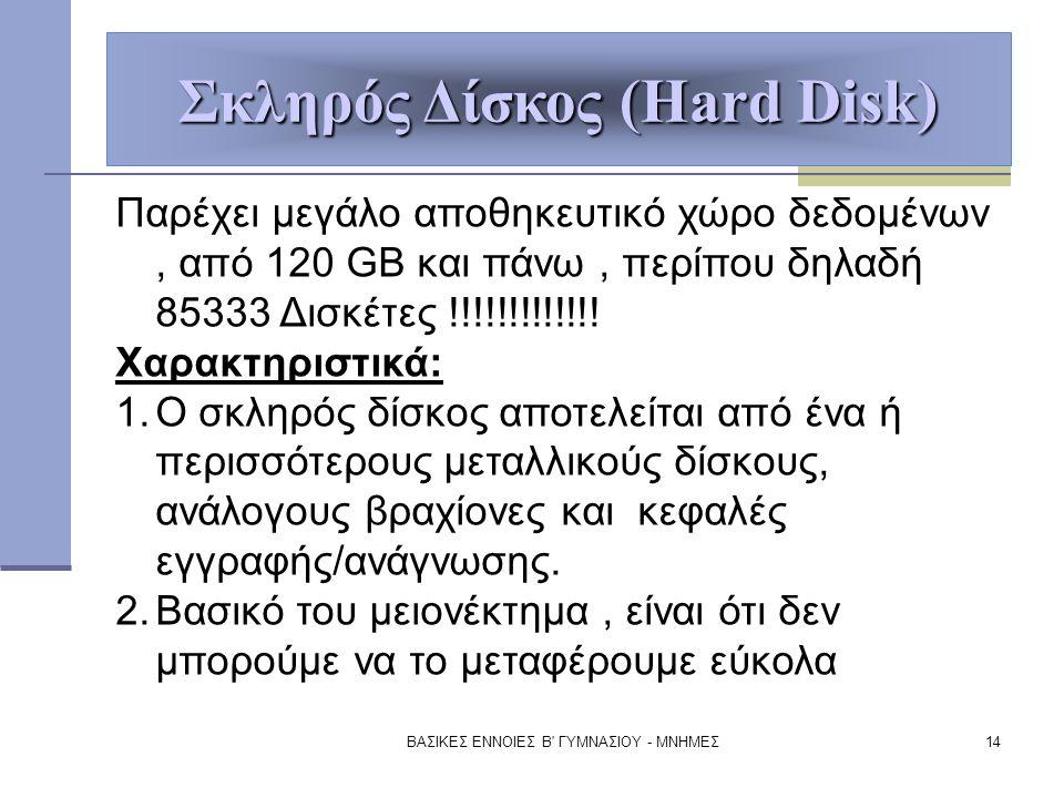 Σκληρός Δίσκος (Hard Disk)
