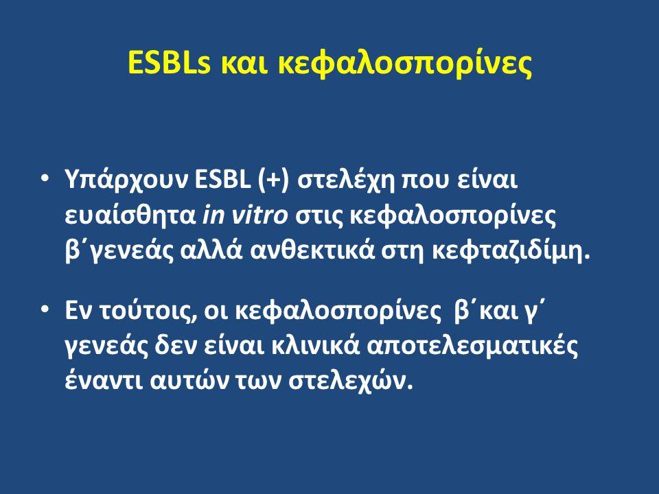 ESBLs και κεφαλοσπορίνες