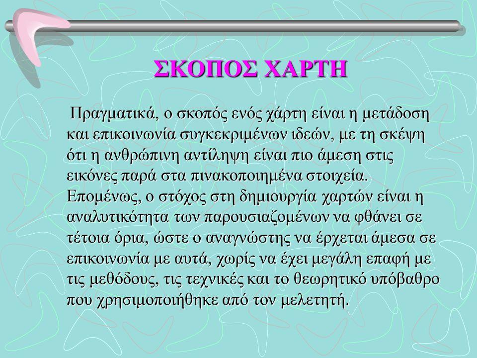 ΣΚΟΠΟΣ ΧΑΡΤΗ