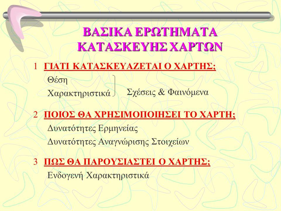 ΒΑΣΙΚΑ ΕΡΩΤΗΜΑΤΑ ΚΑΤΑΣΚΕΥΗΣ ΧΑΡΤΩΝ