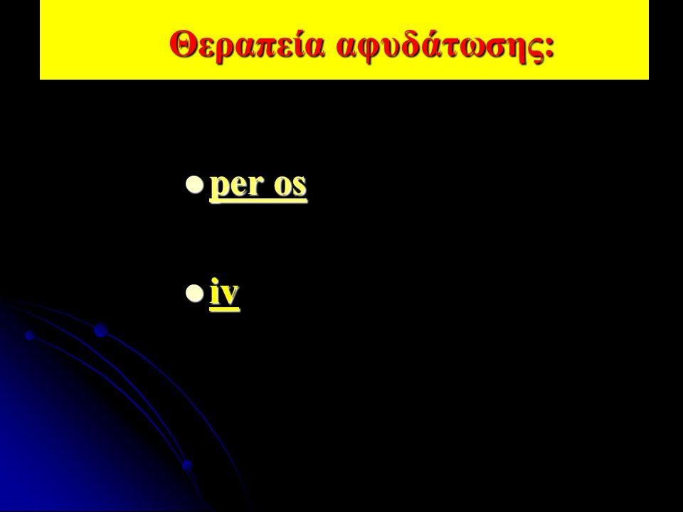 Θεραπεία αφυδάτωσης: per os iv