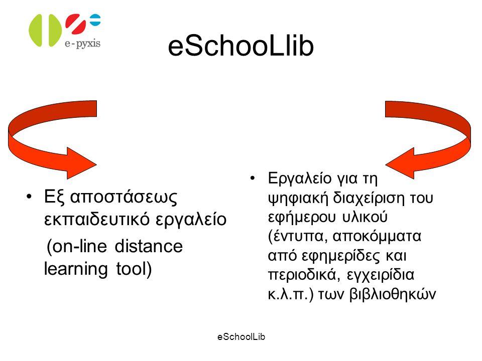 eSchooLlib Εξ αποστάσεως εκπαιδευτικό εργαλείο