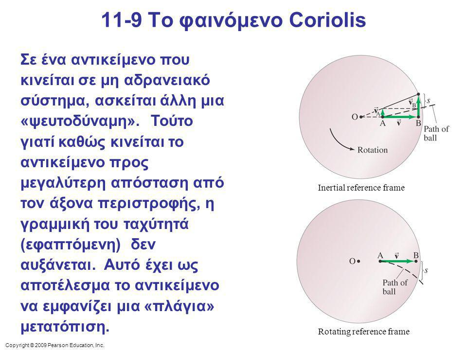 11-9 Το φαινόμενο Coriolis