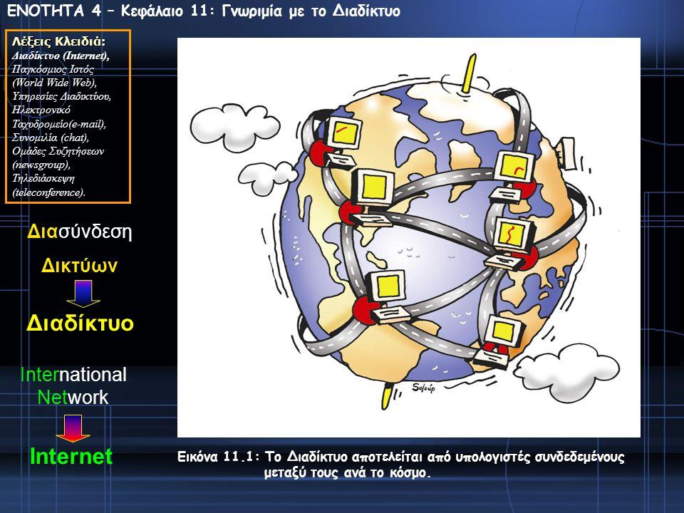 Διαδίκτυο Internet Διασύνδεση Δικτύων International Network