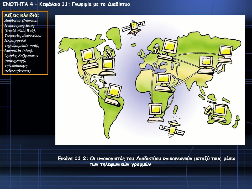 ΕΝΟΤΗΤΑ 4 – Κεφάλαιο 11: Γνωριμία με το Διαδίκτυο
