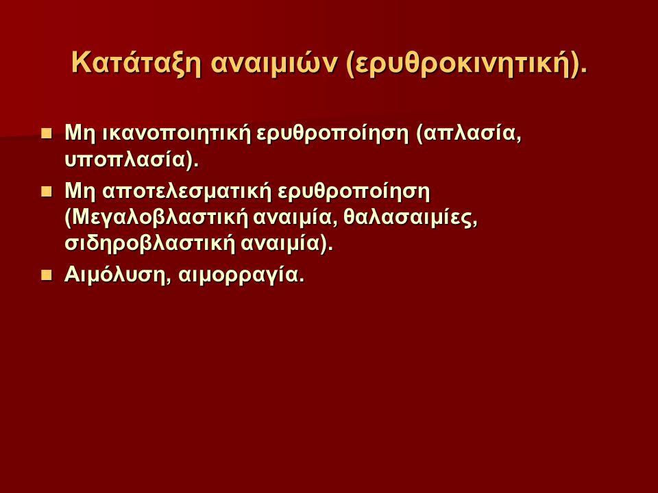Κατάταξη αναιμιών (ερυθροκινητική).