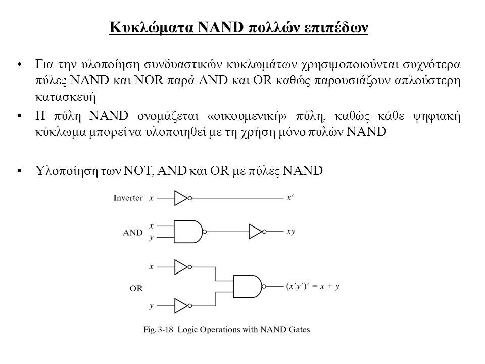 Κυκλώματα NAND πολλών επιπέδων