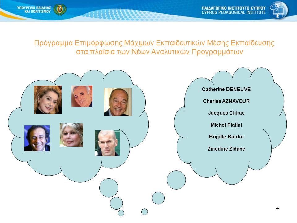Πρόγραμμα Επιμόρφωσης Μάχιμων Εκπαιδευτικών Μέσης Εκπαίδευσης στα πλαίσια των Νέων Αναλυτικών Προγραμμάτων
