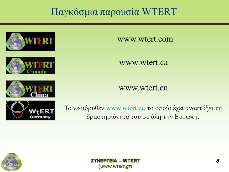 Παγκόσμια παρουσία WTERT