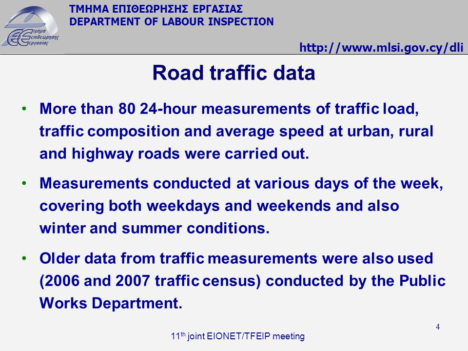 Road traffic data