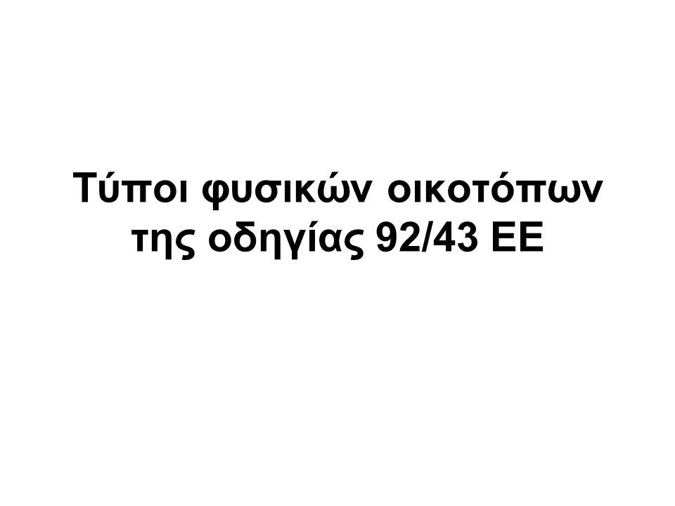 Τύποι φυσικών οικοτόπων της οδηγίας 92/43 ΕΕ