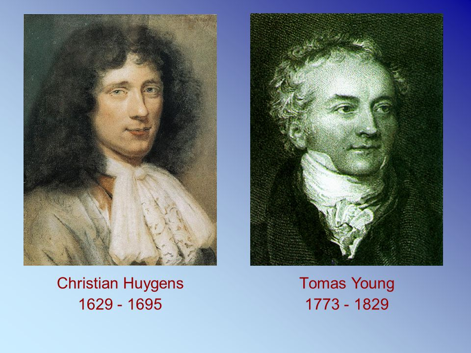 Christian Huygens 1629 - 1695 Τomas Young 1773 - 1829