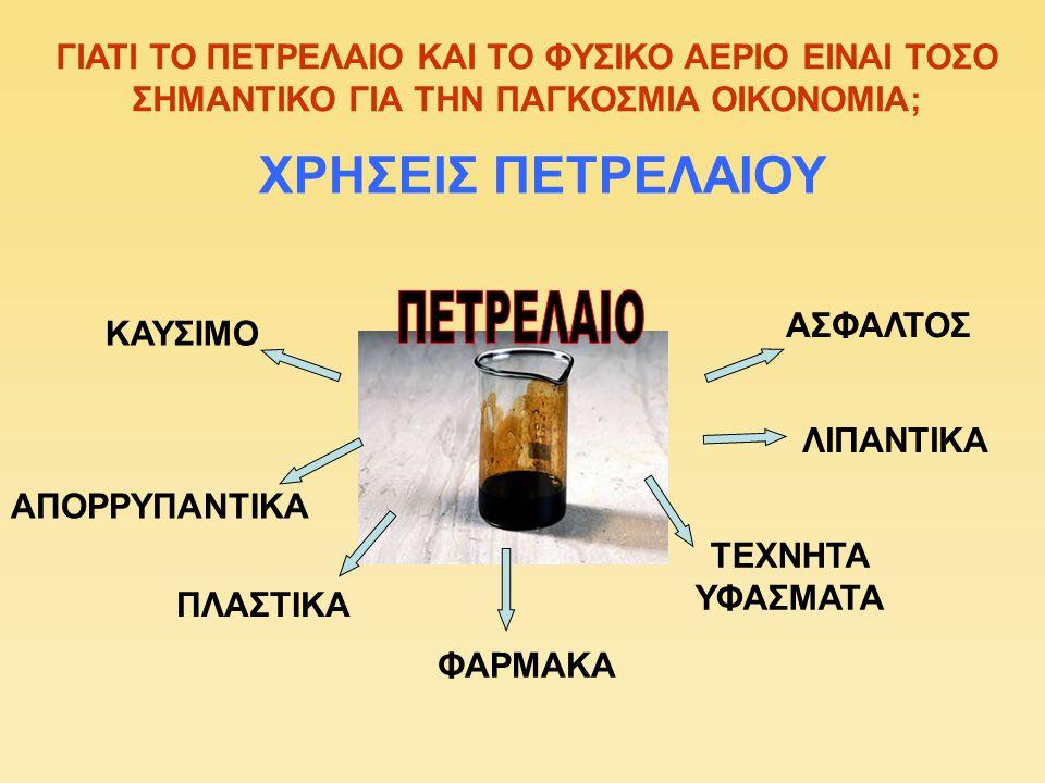 ΧΡΗΣΕΙΣ ΠΕΤΡΕΛΑΙΟΥ ΠΕΤΡΕΛΑΙΟ