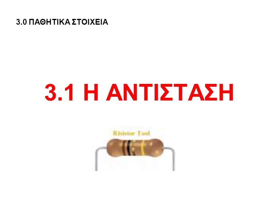 3.0 ΠΑΘΗΤΙΚΑ ΣΤΟΙΧΕΙΑ 3.1 Η ΑΝΤΙΣΤΑΣΗ