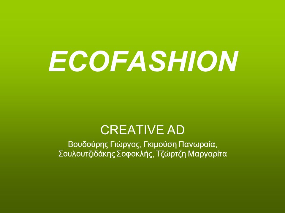 ECOFASHION CREATIVE AD
