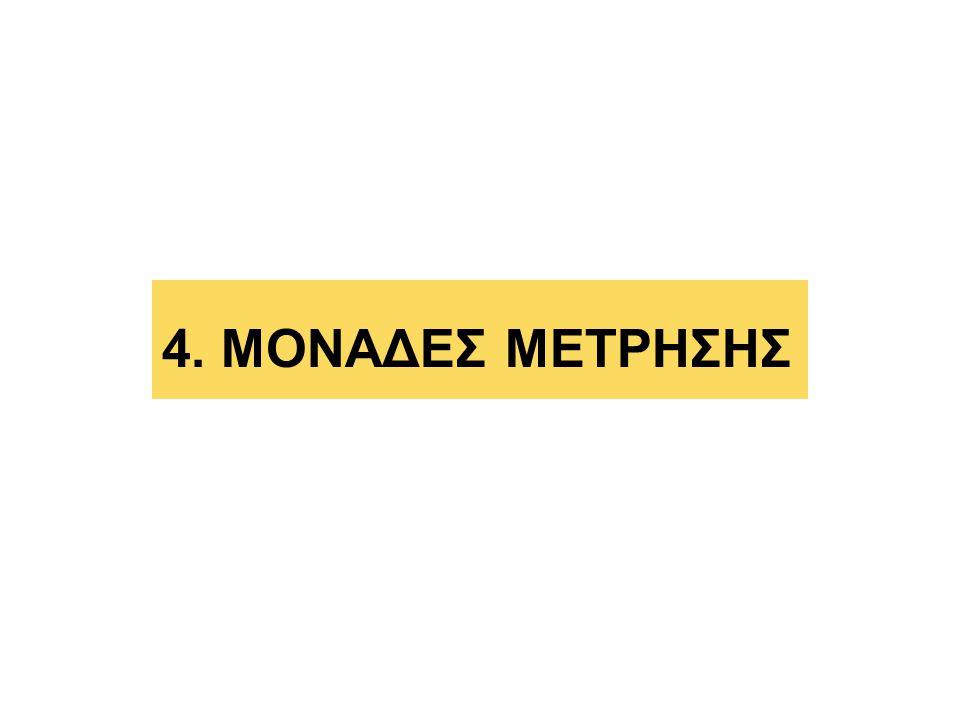 4. ΜΟΝΑΔΕΣ ΜΕΤΡΗΣΗΣ