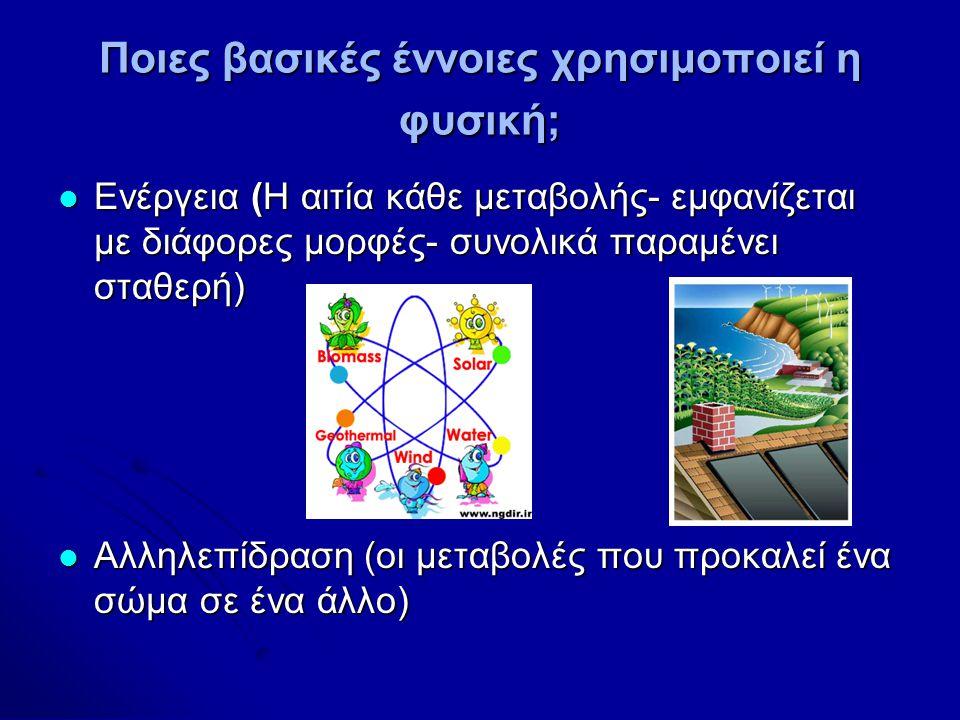 Ποιες βασικές έννοιες χρησιμοποιεί η φυσική;
