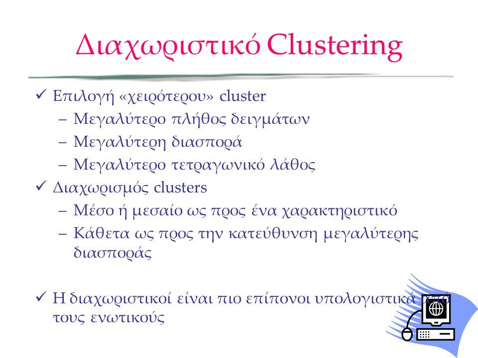 Διαχωριστικό Clustering