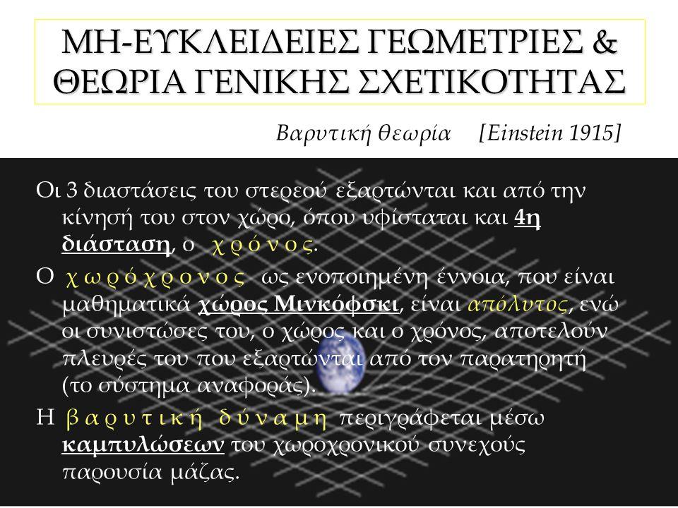 ΜΗ-ΕΥΚΛΕΙΔΕΙΕΣ ΓΕΩΜΕΤΡΙΕΣ & ΘΕΩΡΙΑ ΓΕΝΙΚΗΣ ΣΧΕΤΙΚΟΤΗΤΑΣ