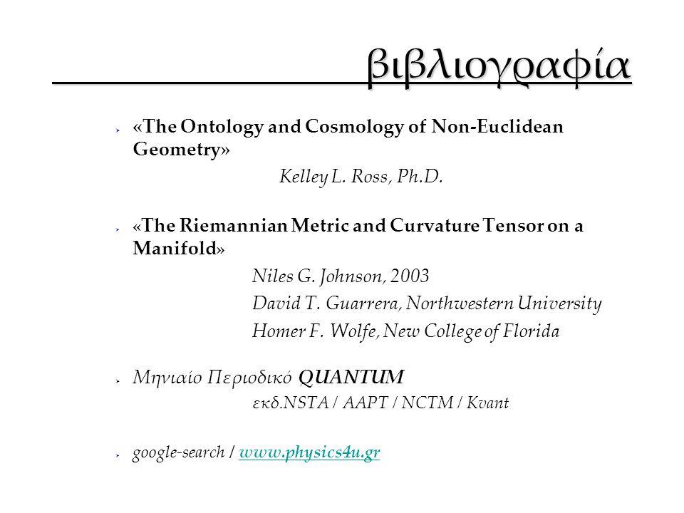 βιβλιογραφία «The Ontology and Cosmology of Non-Euclidean Geometry»