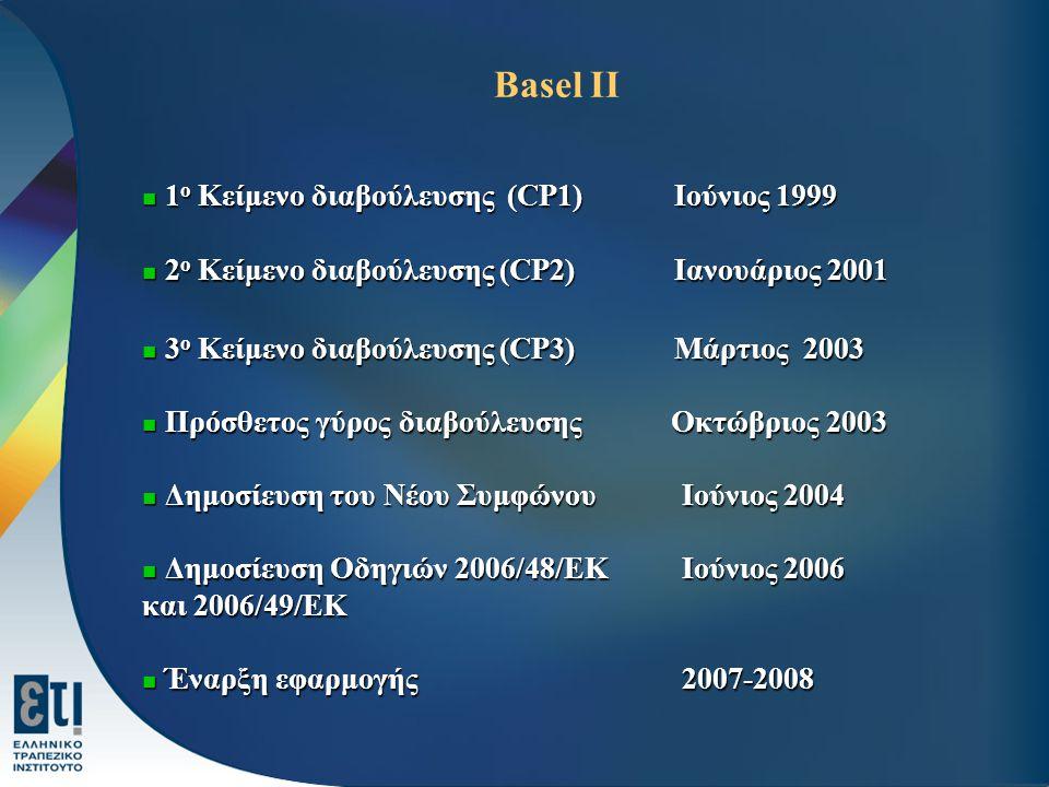 Basel II 1ο Κείμενο διαβούλευσης (CP1) Ιούνιος 1999