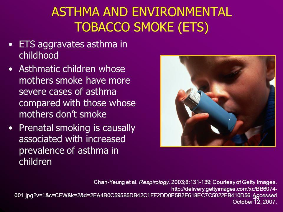 ASTHMA AND ENVIRONMENTAL TOBACCO SMOKE (ETS)