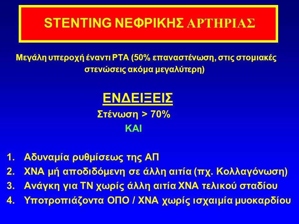 STENTING ΝΕΦΡΙΚΗΣ ΑΡΤΗΡΙΑΣ
