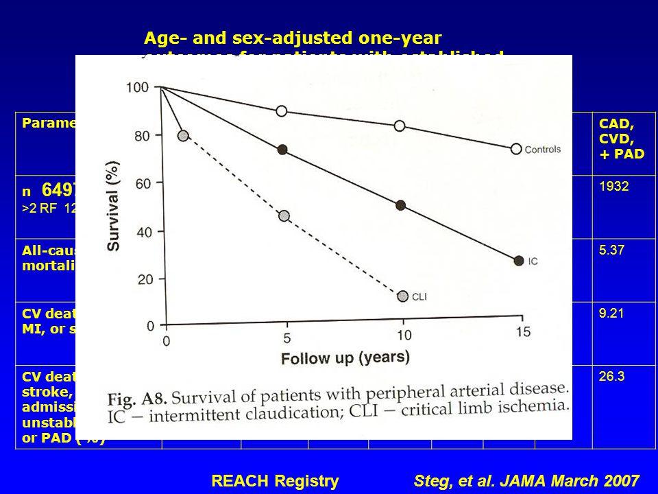 REACH Registry Steg, et al. JAMA March 2007