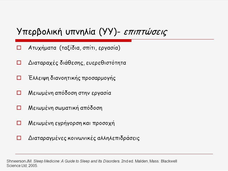 Υπερβολική υπνηλία (YY)- επιπτώσεις