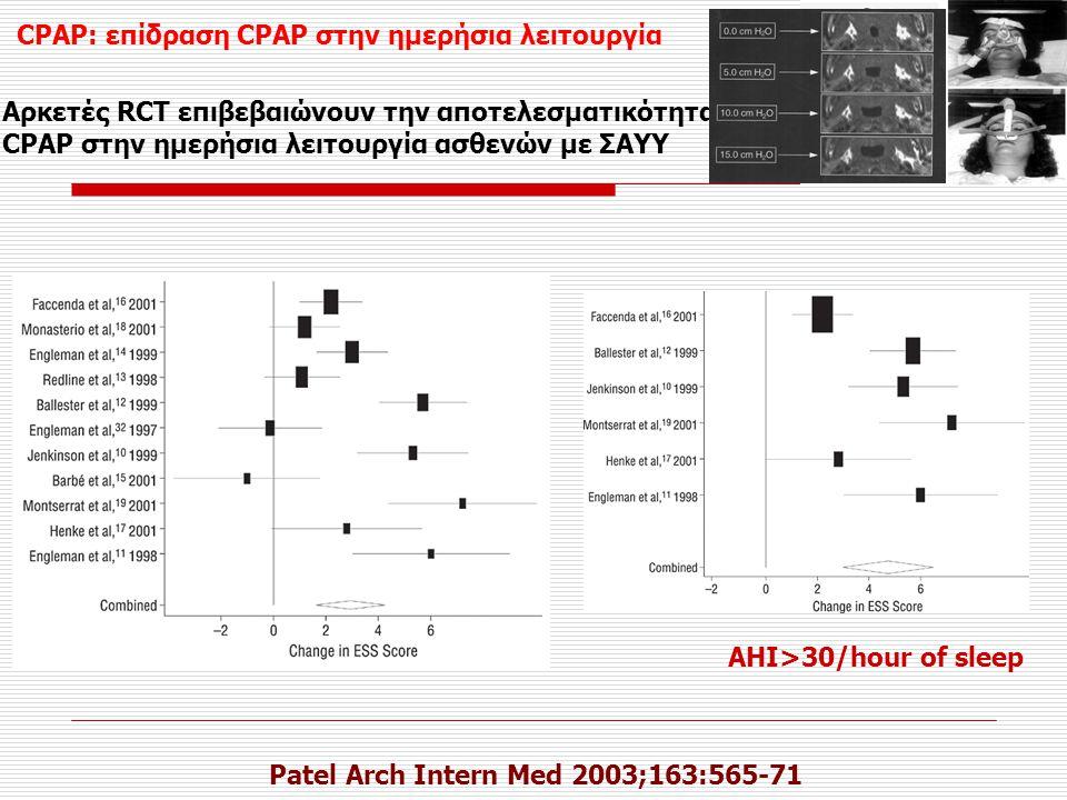CPAP: επίδραση CPAP στην ημερήσια λειτουργία