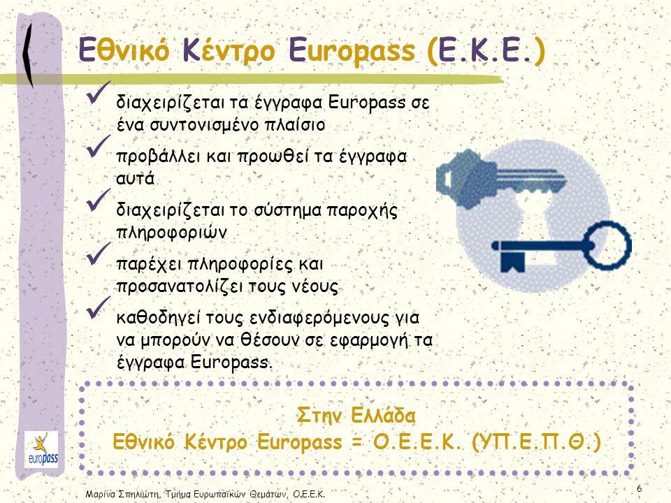 Εθνικό Κέντρο Europass = Ο.Ε.Ε.Κ. (ΥΠ.Ε.Π.Θ.)