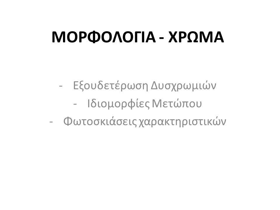 ΜΟΡΦΟΛΟΓΙΑ - ΧΡΩΜΑ Εξουδετέρωση Δυσχρωμιών Ιδιομορφίες Μετώπου
