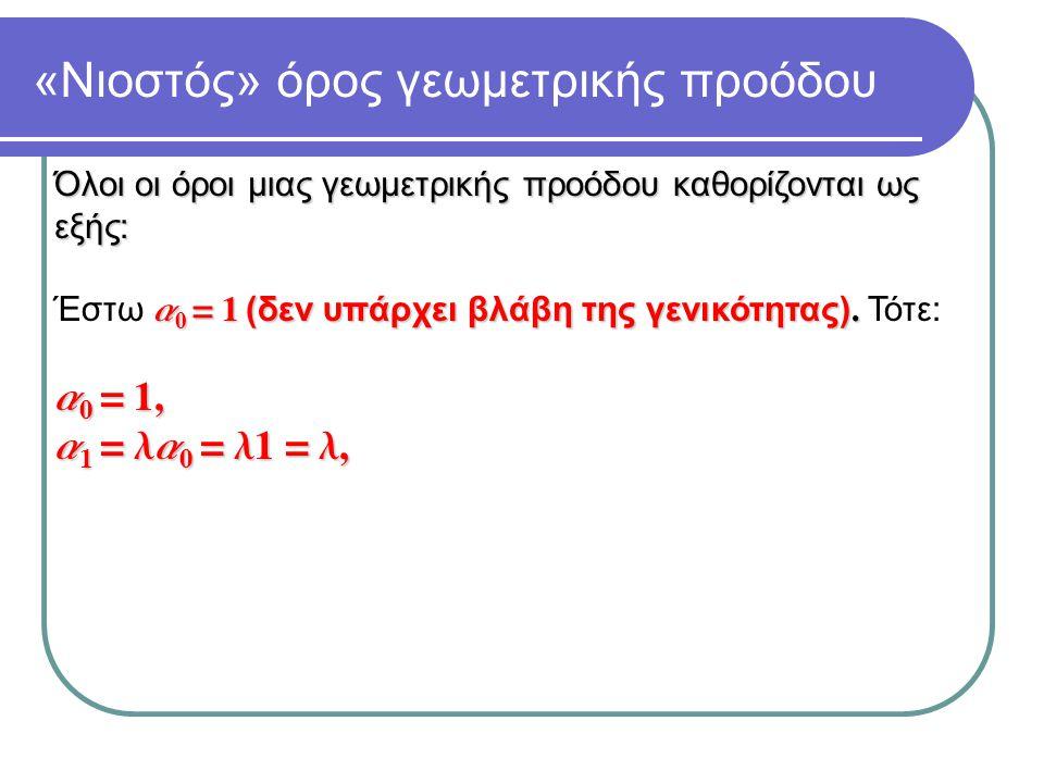 «Νιοστός» όρος γεωμετρικής προόδου