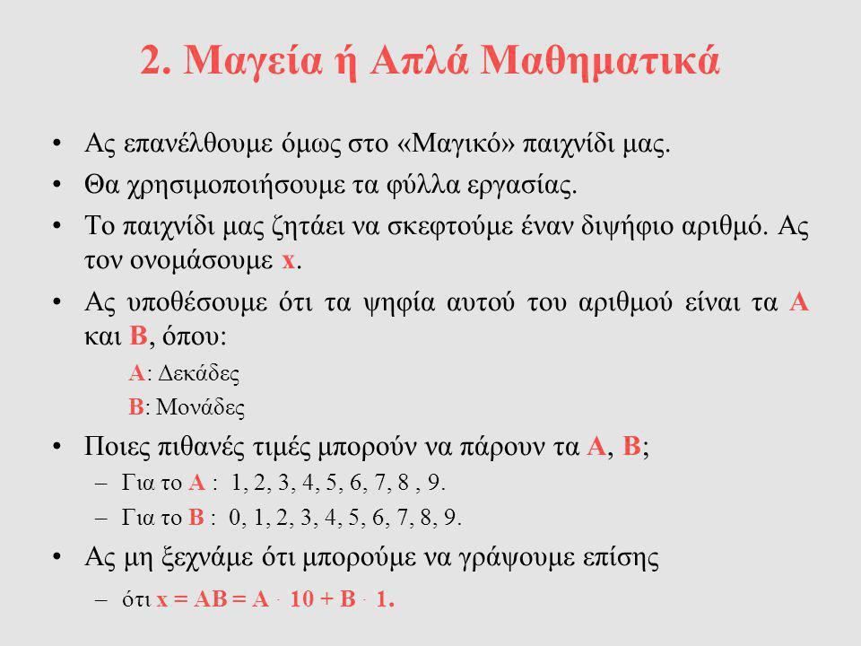 2. Μαγεία ή Απλά Μαθηματικά